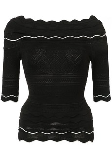 Yigal Azrouel scallop knit top