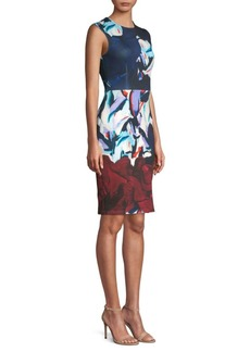 Yigal Azrouel Scuba Classic Sheath Dress