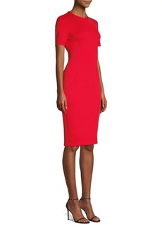 Yigal Azrouel Short Sleeve Sheath Dress