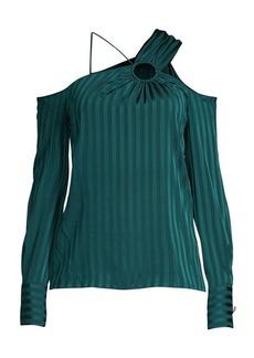 Yigal Azrouel Silk-Blend Cold Shoulder Top