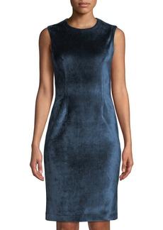 Yigal Azrouel Sleeveless Velvet Scuba Dress