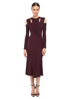 Yigal Azrouel Stella Cold Shoulder Matte Jersey Dress