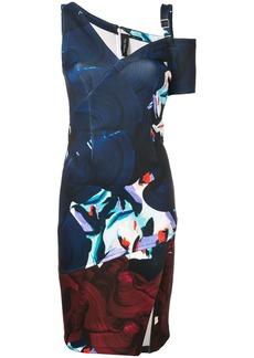 Yigal Azrouel strap detail mid dress