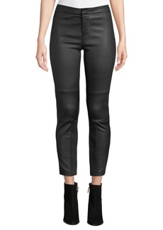 Yigal Azrouel Stretch Leather Skinny Moto Pants