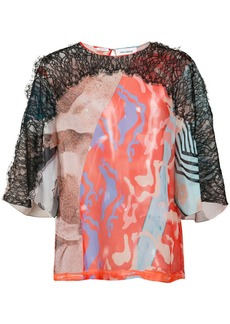 Yigal Azrouel surfboard print blouse