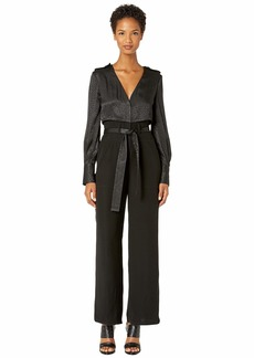 Yigal Azrouel TC V-Neck Jumpsuit with Patch Pockets