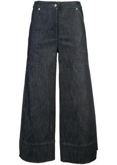 Yigal Azrouel wide-leg denim culottes