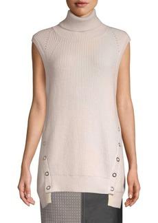 Yigal Azrouel Wool & Cashmere Sleeveless Turtleneck Sweater