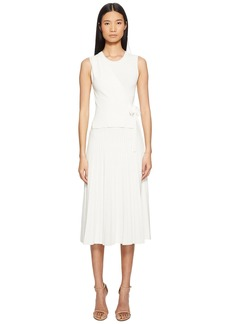 Yigal Azrouel Wrap Front Pleated Skirt Dress