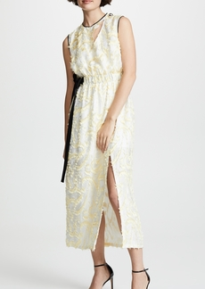 Yigal Azrouel Abstract Paisley Sleeveless Dress