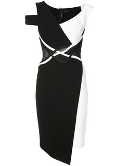Yigal Azrouel asymmetric mechanical dress - Black