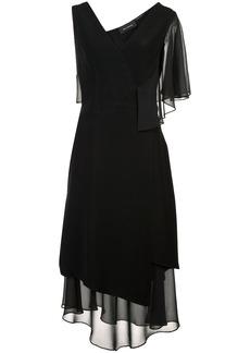 Yigal Azrouel asymmetric ruffle dress - Black