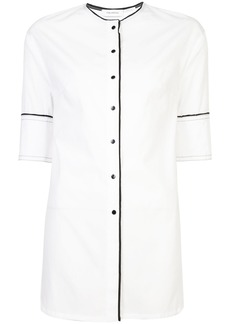 Yigal Azrouel button-front collarless shirt - White