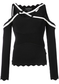 Yigal Azrouel cold shoulder knit top - Black