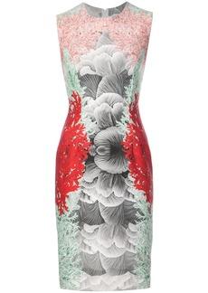 Yigal Azrouel coral printed scuba dress - Multicolour