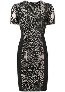 Yigal Azrouel coral reef burnout sheath dress - Black