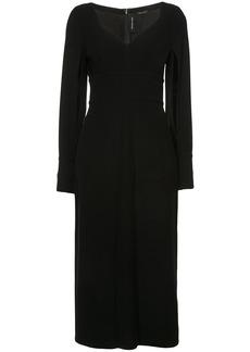 Yigal Azrouel Crepe Midi Dress - Black