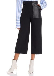 Yigal Azrouel Cropped High-Rise Wide-Leg Pants