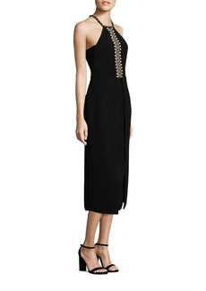 Yigal Azrouel Embroidered Halter Dress