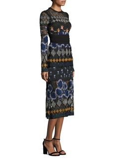 Yigal Azrouel Embroidered Lace Dress