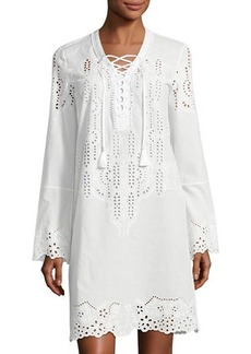 Yigal Azrouel Embroidered Poplin Dress