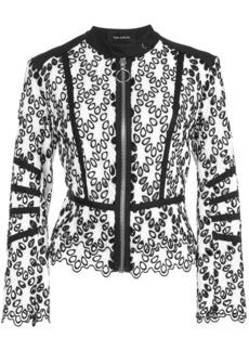 Yigal Azrouel eyelet detail moto jacket - Black
