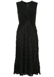 Yigal Azrouel fringed mid-length dress - Black