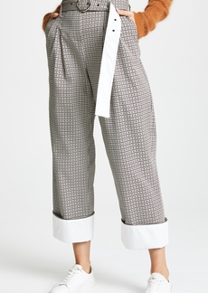 Yigal Azrouel High Waisted Houndstooth Pants