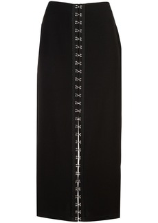 Yigal Azrouel hook and eye detail skirt - Black