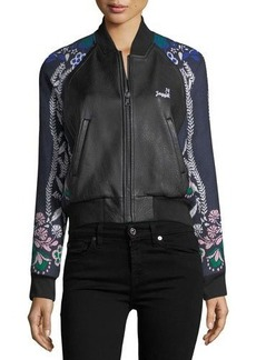 Yigal Azrouel Jagger Leather Bomber Jacket
