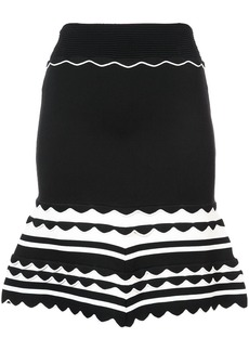 Yigal Azrouel knitted striped dress - Black