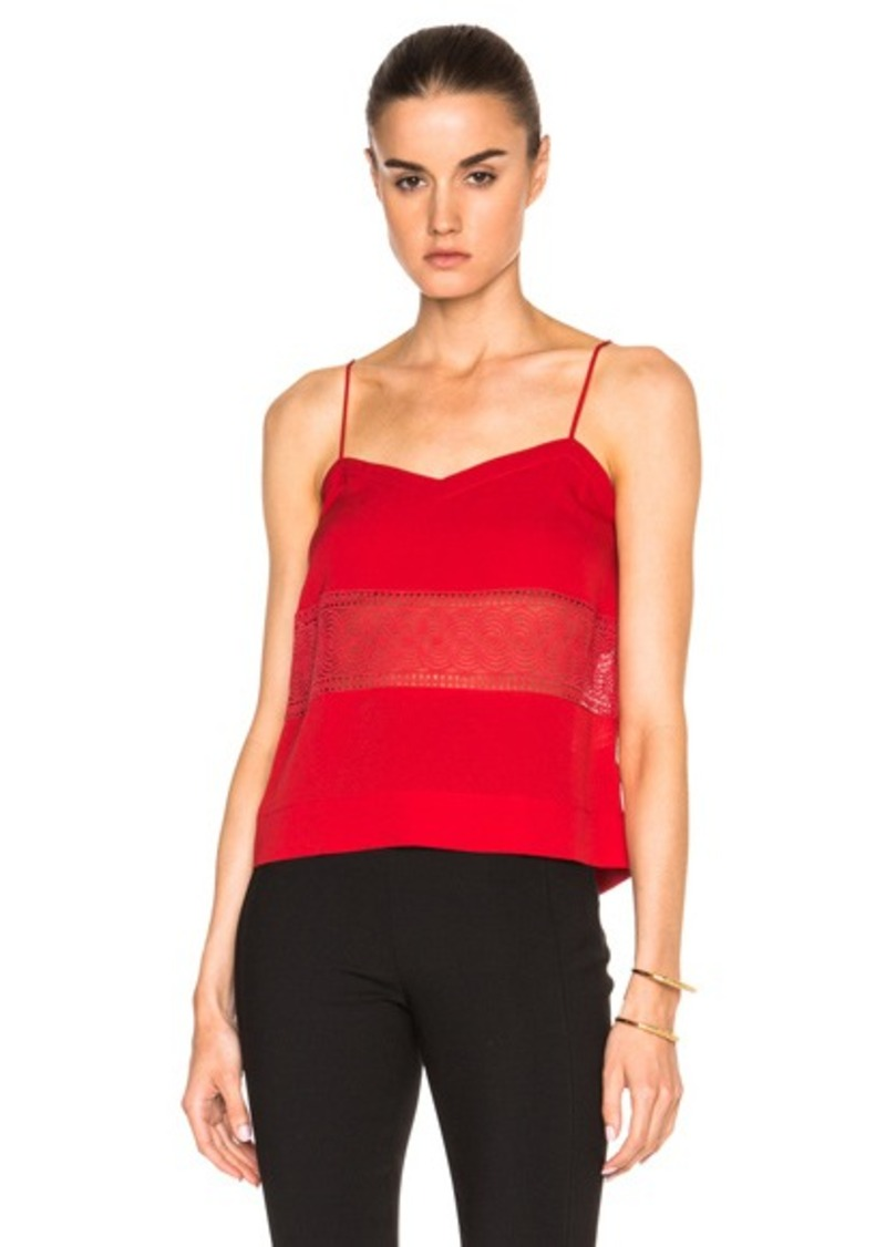 Yigal Azrouel Lace Insert Cami Top