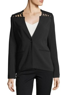 Yigal Azrouel Lacing Detail One-Button Blazer