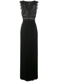 Yigal Azrouel lasercut coral embellished gown - Black