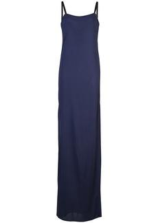 Yigal Azrouel matte split-leg gown - Blue