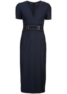 Yigal Azrouel mechanical stretch sheath dress - Blue