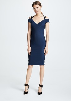 Yigal Azrouel Off Shoulder Dress with Velvet Straps