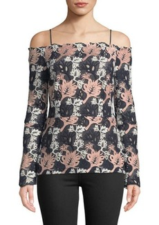 Yigal Azrouel Off-The-Shoulder Guipure-Lace Blouse