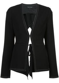 Yigal Azrouel open tie-back jacket - Black