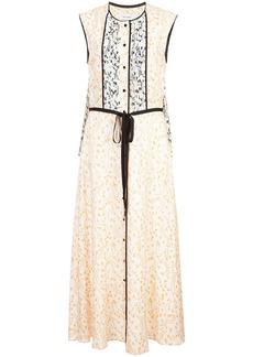 Yigal Azrouel orchid vine sleeveless dress - White