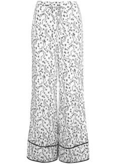Yigal Azrouel orchid vine wide-leg trousers - White