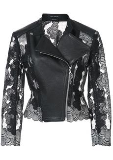 Yigal Azrouel panelled moto jacket - Black