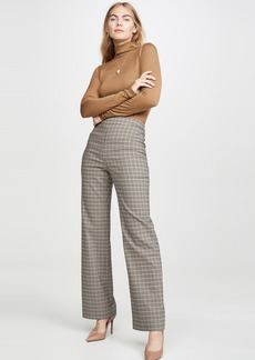 Yigal Azrouel Plaid Wide Leg Pants