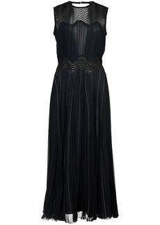 Yigal Azrouel pleated chiffon dress - Blue
