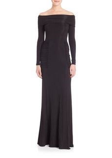 Yigal Azrouel Ruched Off-The-Shoulder Gown