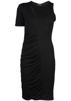 Yigal Azrouel ruched one-sleeve dress - Black