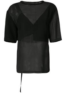 Yigal Azrouel sheer blouse - Black