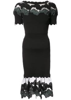 Yigal Azrouel Shell lace dress - Black