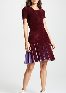 Yigal Azrouel Short Sleeve Flare Dress
