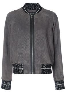 Yigal Azrouel snakeskin effect bomber jacket - Grey